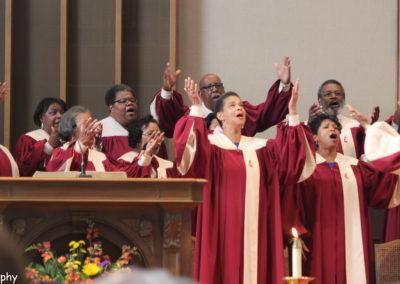 Wesley Choir Singing At First UMC