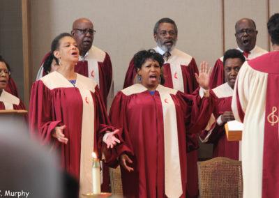 Wesley Choir Singing @ First UMC