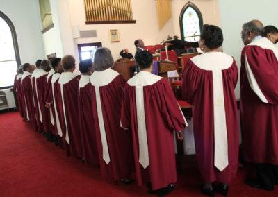 Intergenerational Choir taking Communion